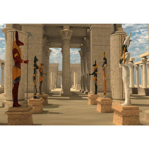Yeele 7x5ft Ancient Egyptian Mythology Temple Backdrop for Photography Pharaoh Gods Background Photo Booth Shoot Vinyl Studio Props