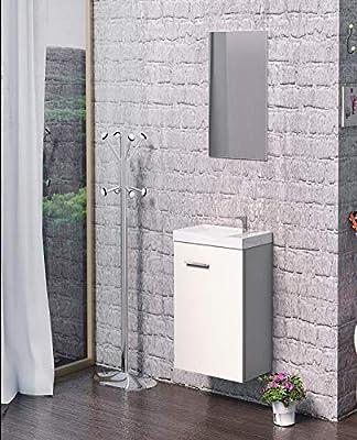Baikal Mueble baño, Blanco: Amazon.es: Hogar