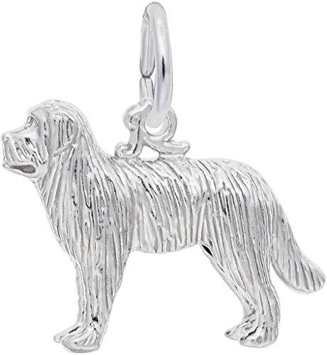 Newfoundland Dog Charm - Rembrandt Newfoundland Dog Charm - Metal - Sterling Silver