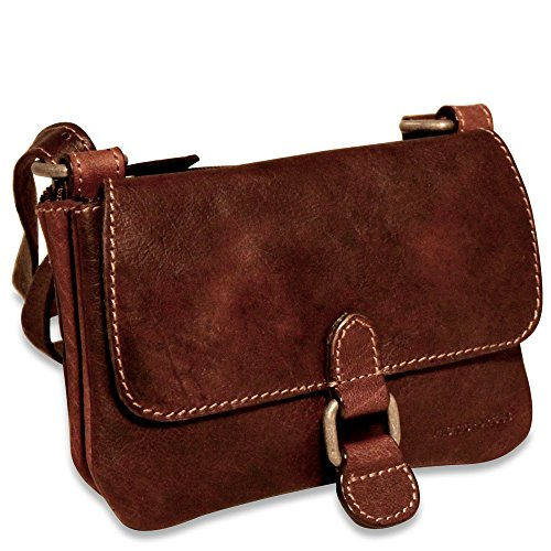Jack Georges Voyager Small Crossbody bag (Brown) (Bag Jack Leather Georges)