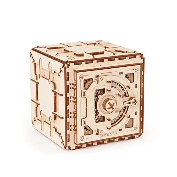 UGEARS Model Safe Kit | 3D Wooden Puzzle | DIY Mechanical Safe 3
