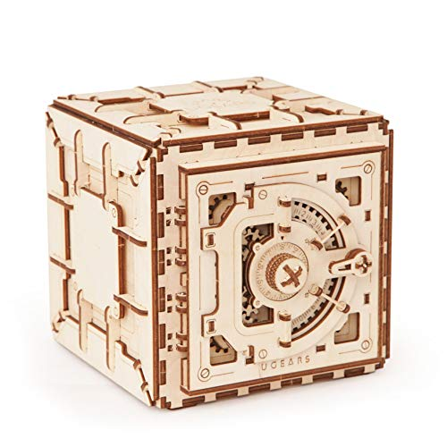 Ugears Mechanical 3D Safe, Valentine's Gifts, Adult Puzzle,