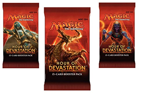 3 (Three) Packs - Magic: the Gathering - MTG: Hour of Devastation Booster Packs (3 Pack Lot)