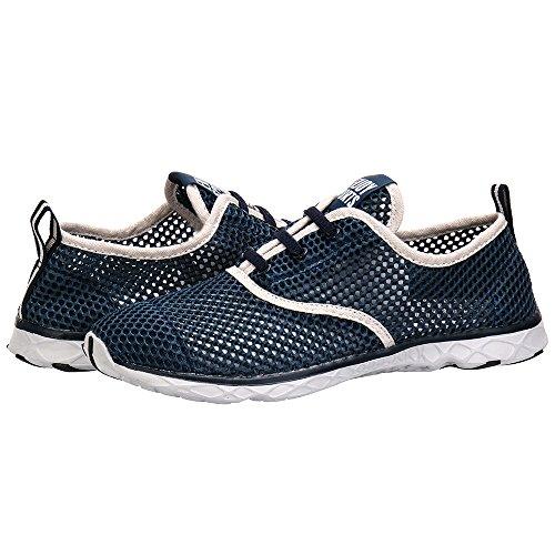 ALEADER Men's Quick Drying Aqua Water Shoes Blue 9.5 D(M) US