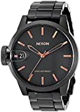 Nixon Men's A441957 Chronicle 44 Analog Display Swiss Quartz Black Watch