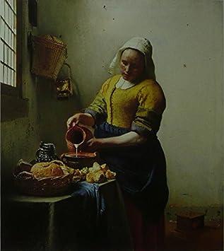 La Laitiere Vermeer Tableau Cadre 11 X 14 Amazon Fr Cuisine Maison