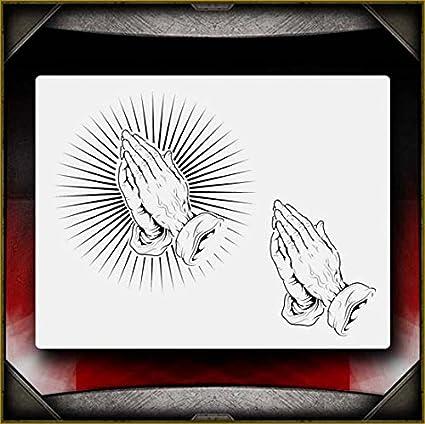 amazon com praying hands 1 airsick airbrush stencil template