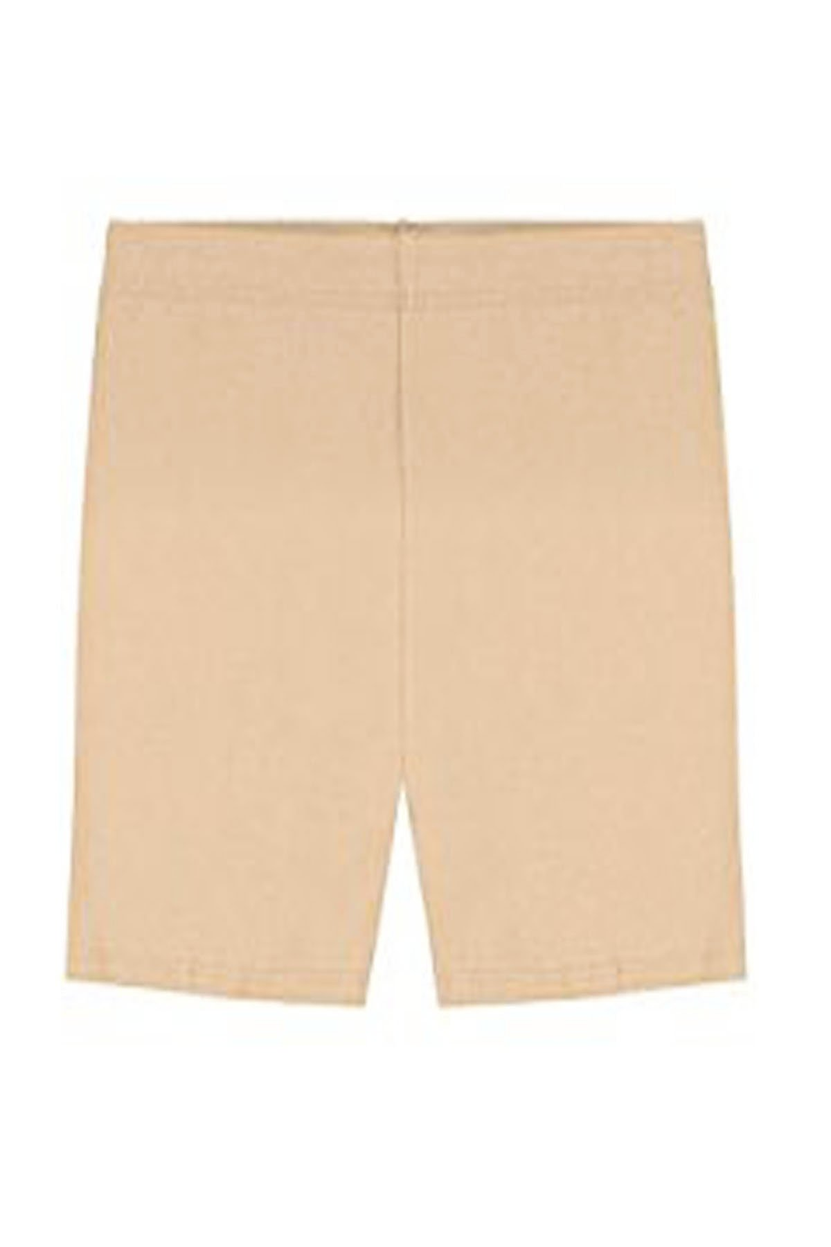 Elegance Girls' Basic Solid Soft Cotton Bike Short for Dance Gymnastics or Under Skirts (11-13 Years, Tan)