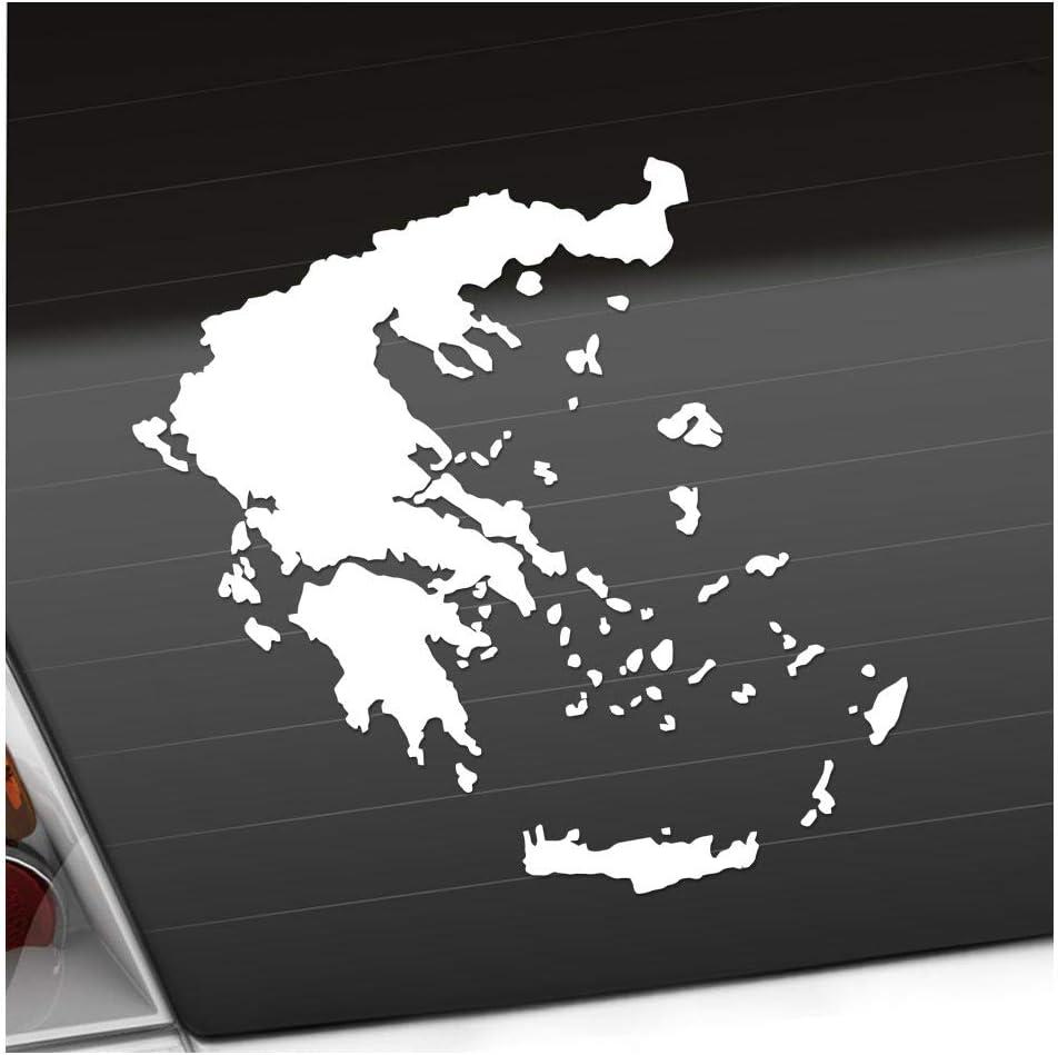Kiwistar Griechenland Umriss Kontur Aufkleber Sticker 25 Farben Neon Matt Auto