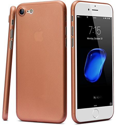 TOZO for iPhone 7 Case iPhone 8 Case, PP Ultra Thin [0.35mm] Worlds Thinest Protect Hard Case [ Semi-Transparent ] Lightweight 4.7 inch. [Matte Rose Gold]