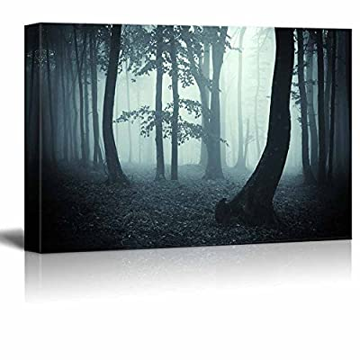 Canvas Prints Wall Art - Trees in The Forest on a Foggy Morning | Modern Wall Decor/Home Decoration Stretched Gallery Canvas Wrap Giclee Print & Ready to Hang - 12