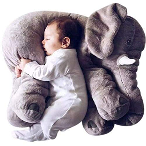 ECEJIX Big XL Stuffed Elephant Plush Toy Grey Stuffed Animal Durable Elephant Plush Toy Large Soft Toy Gifts for Kids 24 Inches 2 lbs