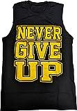 John Cena Never Give up Blue Sleeveless Muscle T-Shirt-L