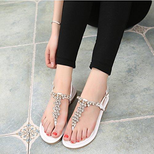 SUNAVY - Zapatos con tacón Mujer blanco 1