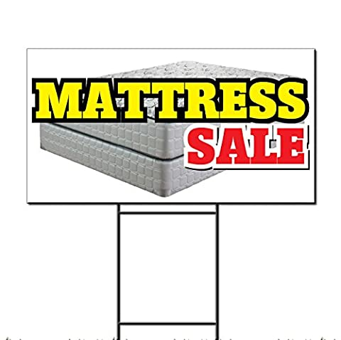 Mattress Sale Business Corrugated Plastic Yard Sign /Free Stakes Two Sides Print 18 x 24 - 2 Free Mattresses