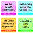 Carson Dellosa Christian Faith Verses Stickers (0650) from Carson-dellosa Christian Publishing