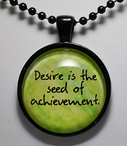 Desire is the Seed of Achievement Pendant Necklace Jewelry Hope Faith Christian Jewelry C L Murphy Creative CLMurphyCreative Desire Jewelry