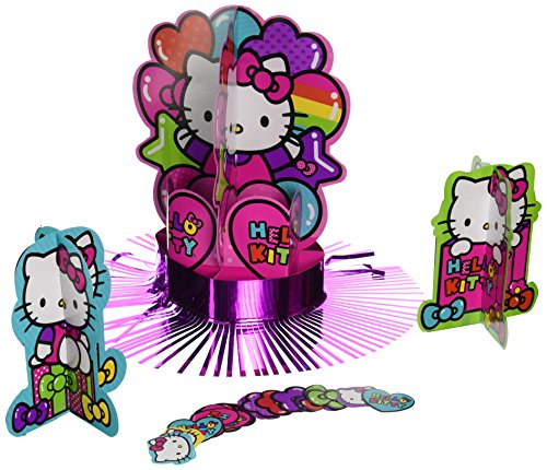 "Hello Kitty Rainbow Table Decorating Kit Birthday Party Decoration (23 Pack), Multi Color, 13.8"" x 11.8""."