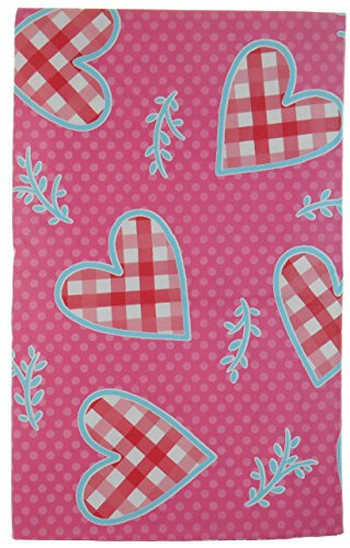 Valentine's Country Quilted Hearts Vinyl Tablecloth - Out...