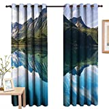 Best Eclipse Home Fashion Thermal Insulated Blackout Curtains Royal Blues - Pattern Curtains Landscape,Mountain with Sharp Peaks and Short Review