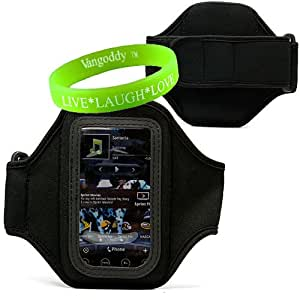 HTC HD 7 4g Neoprene Exercise Armband for 4g HTC Touchscreen Smart Phone Models + Live * Laugh * Love Vangoddy Wrist Band