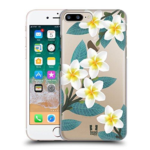 Head Case Designs Plumeria Watercolour Flowers 2 Hard Back Case Compatible for iPhone 7 Plus/iPhone 8 -