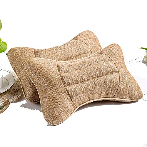 (Liufeilong Head Pillow for Household Cassia Seed Neck Protector Breathable and Sweat Absorbent Linen Bamboo Charcoal granular Automobile Head Pillow)