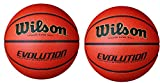 Wilson Evolution Indoor Game Basketball 2Pack (Official - size 29.5)