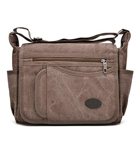 52834db2f0d Degohome Messenger Bag Vintage Retro Canvas Business shoulder bag Crossbody  Travel Bag (Normal size