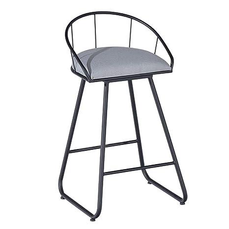 Outstanding Amazon Com Fashion Sturdy Metal Frame Barstool With Gray Uwap Interior Chair Design Uwaporg