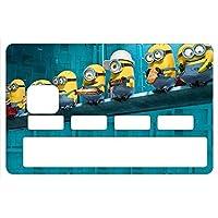 The Little Boutique Stickers CB, decoratif, pour Carte bancaire, Les Minions Lunch au Rockfeller Center