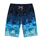 Men's Quick Dry Boardshorts Bathing Suits Swimming Trunks Island Beach Shorts (30-32 Tag XL)