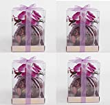 Scented Sachet Round Pink Potpourri With Orchids Beauty (4)