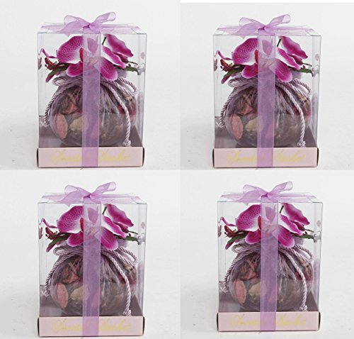 Scented Sachet Round Pink Potpourri With Orchids Beauty (4) by CandleRay