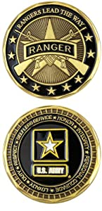 U.S. ARMY RANGER Challenge Coin-Eagle Crest 2551 by Eagle Crest