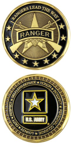 Amazon Us Army Ranger Challenge Coin Eagle Crest 2551 By