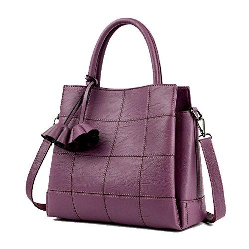 à Mode purple Vent Bandoulière PU Voyage Crossbody Portable Écolière Dame Sac Collège xBHrwxz