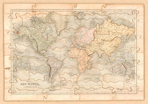 Art Oyster Vintage Map of World, 1840-40