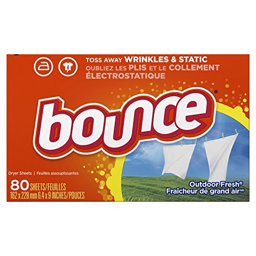 Bounce Fabric Softener Dryer Sheets, Outdoor Fresh Scent, 80 Count - Packaging May Vary