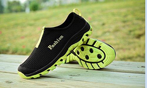 Chaussures De Course Dathlétisme Pour Hommes Phifa Slip On Mesh Espadrille Supérieure (dégagement) Vert