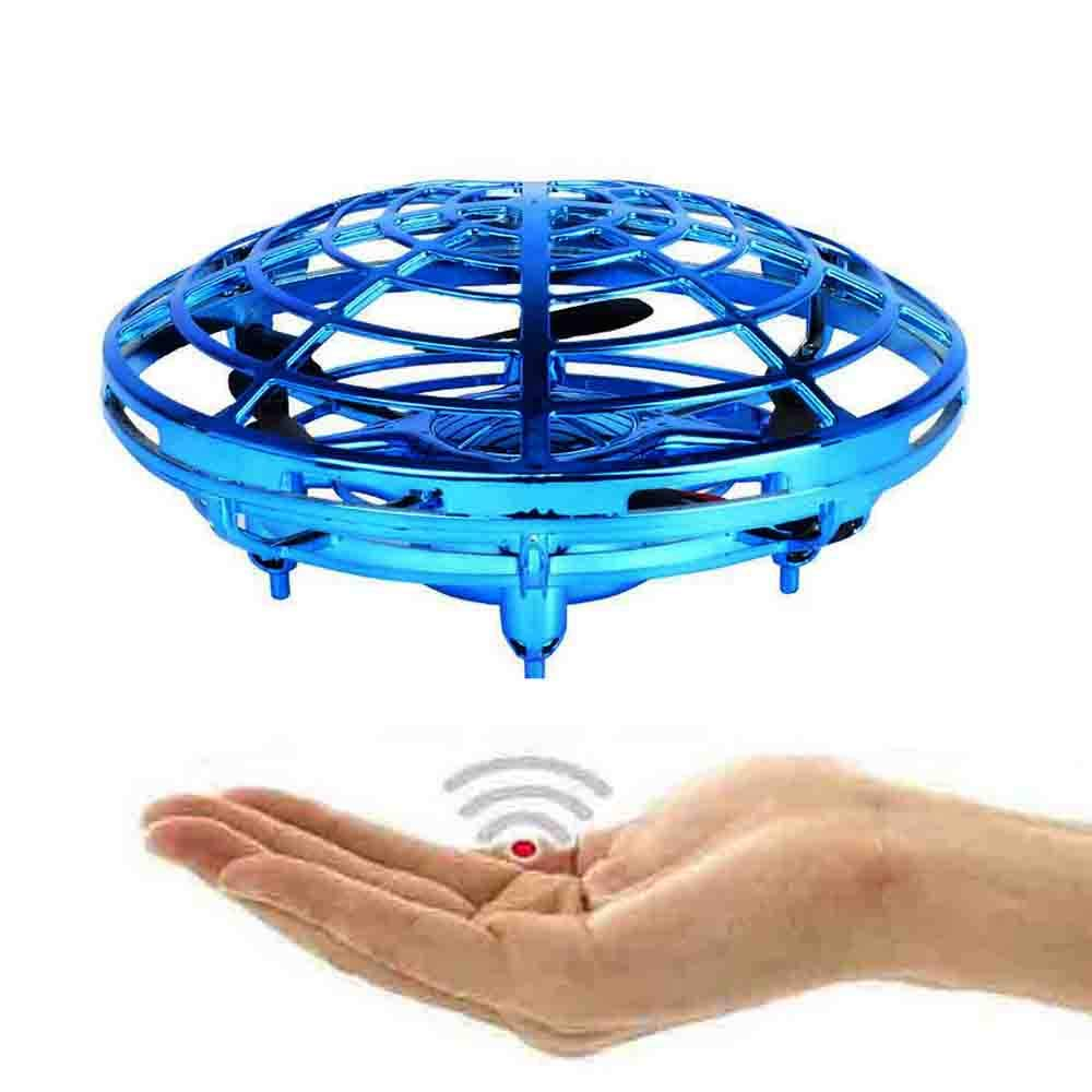 NiGHT LiONS TECH Novelty UFO Flying Toy,Hand-Controlled Suspension Quadcopter Toy, Infrared Induction Interactive Drone Indoor Flyer Toys with 360° Rotating and LED Lights for Adults,Kids,Teenagers by NiGHT LiONS TECH (Image #1)