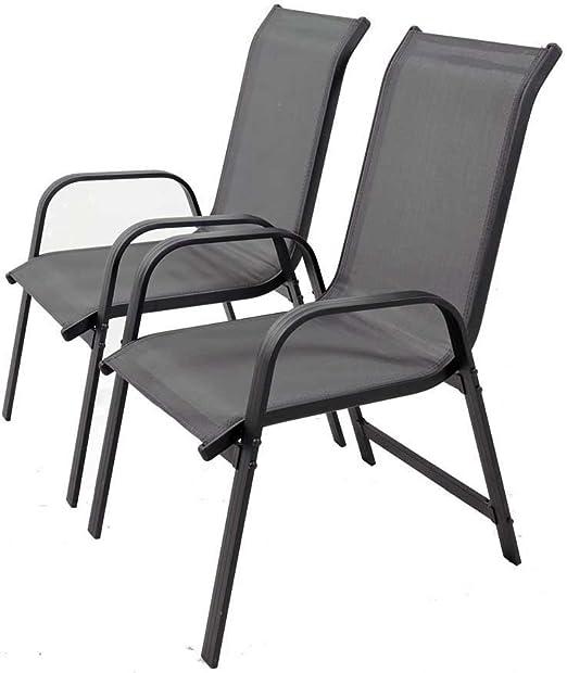 Juego de sillas para jardin textileno Porto- Phoenix - gris oscuro ...