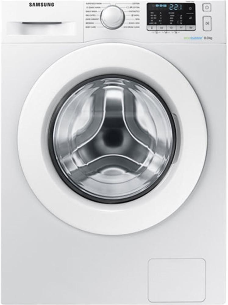 Samsung WW80J5355MW Independiente Carga frontal 8kg 1200RPM A+++-10% Blanco - Lavadora (Independiente, Carga frontal, Blanco, Botones, Giratorio, Izquierda, LED)