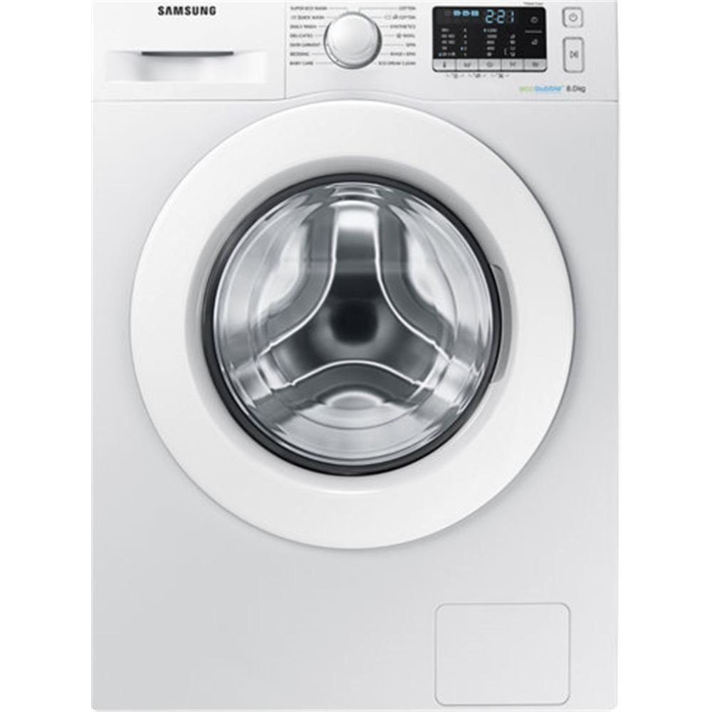 Samsung WW80J5355MW Independiente Carga frontal 8kg 1200RPM A+++-10% Blanco - Lavadora (Independiente, Carga frontal, Blanco, Botones, Giratorio, Izquierda, LED) WW80J5355MW/EU