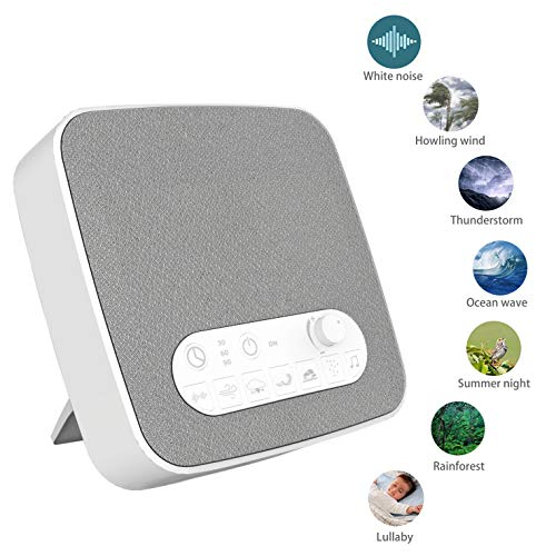 [2019 New]White Noise Machine for Sleeping, Aurola Sleep Sound Machine with Non-Looping Soothing Sounds for Infant Adult Traveler, Built in USB Output Charger & Timer, Portable for Home Office Travel