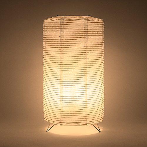 (Fantado PaperLanternStore.com Cylinder Fine Line Warm White LED Lantern Table Lamp Light KIT w/Remote, Omni360 Battery Powered)