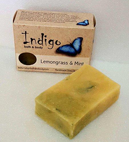 Lemongrass and Mint Handmade Shea Butter Soap