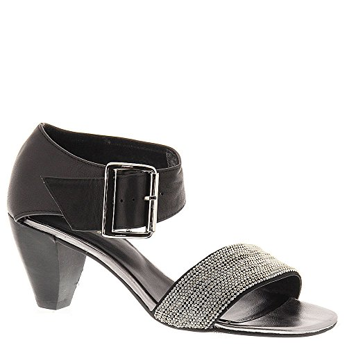 Sandalo Nero Con Cinturino Nero Per Donna