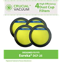 4 Replacements for Eureka DCF25 Filter Fits SuctionSeal, Endeavor, & Nimble, Compatible With Part # 67600 & 82982-2, by Think Crucial