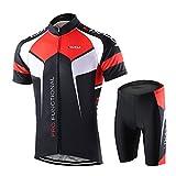 Lixada Men's Cycling Jersey Set Bicycle Short Sleeve Set Quick-Dry...